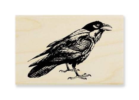 M316 Crow Caw in Wood Mounted style. Also available in Cling Rubber.