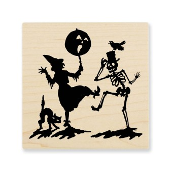Q203 Witchy Dance Wood Mounted Stamp (also available in Cling Rubber)
