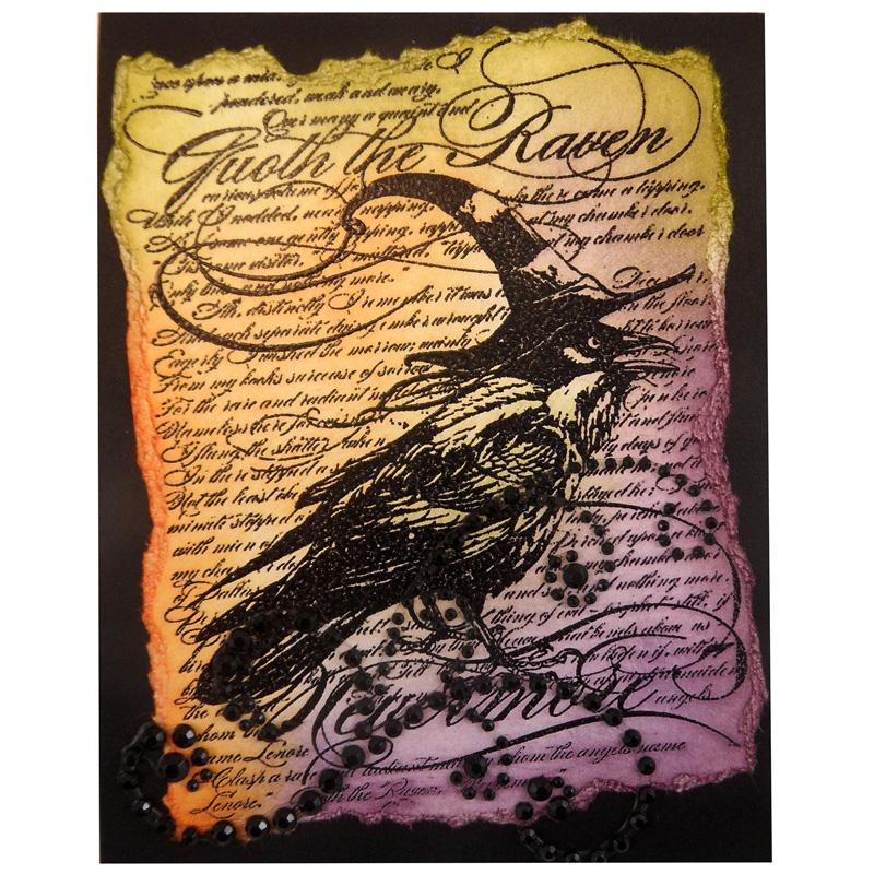 Raven Background by Kristine Reynolds