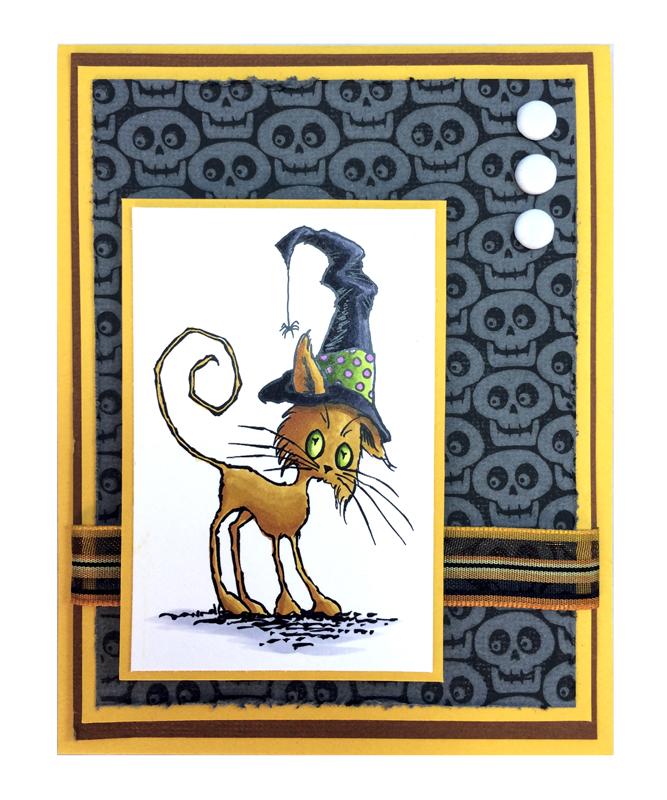 Scraggly Cat Card by Jennifer Dove