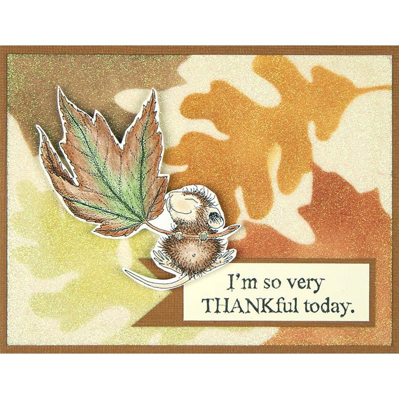 Fall Float and Jumbo Leaves Card by Debi Hammons