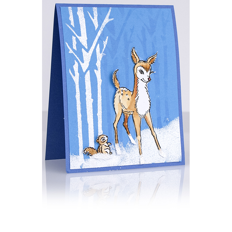 Forest Friends Card by Debi Hammons