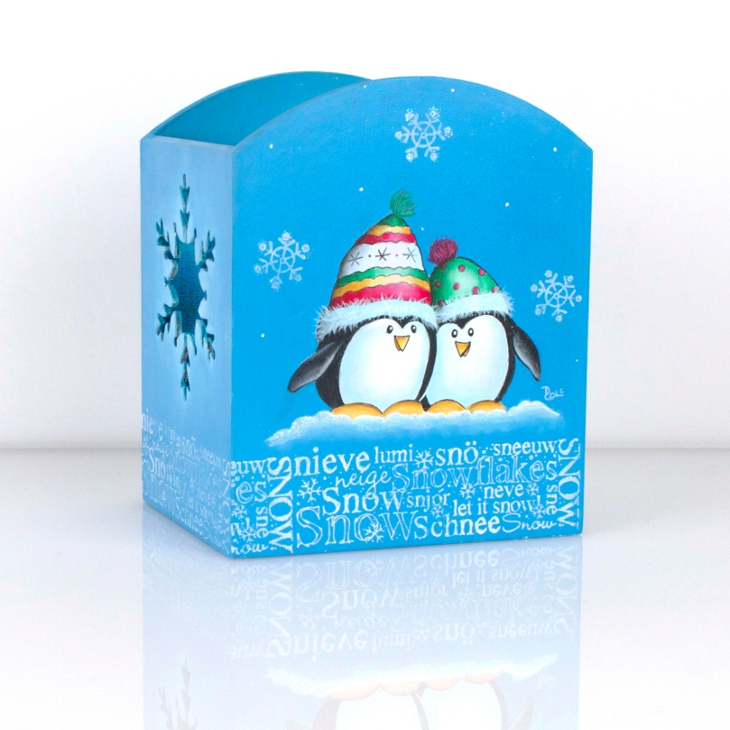 Penguin Snow Candle Box by Debbie Cole