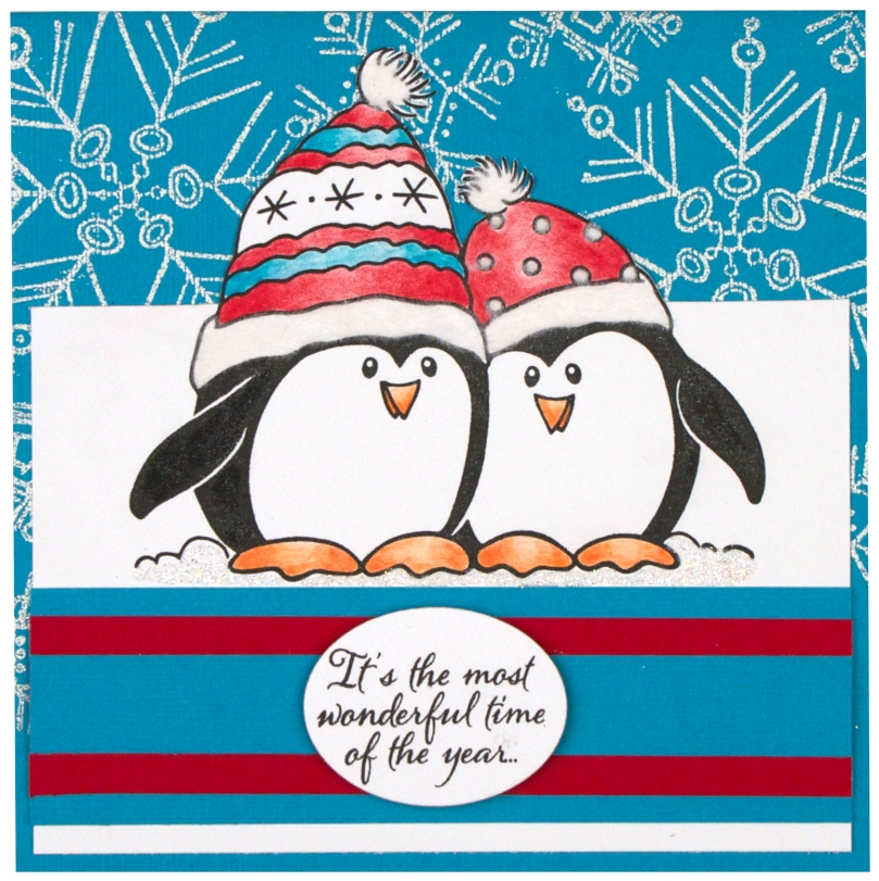 Penguin Snow Card by Debi Hammons