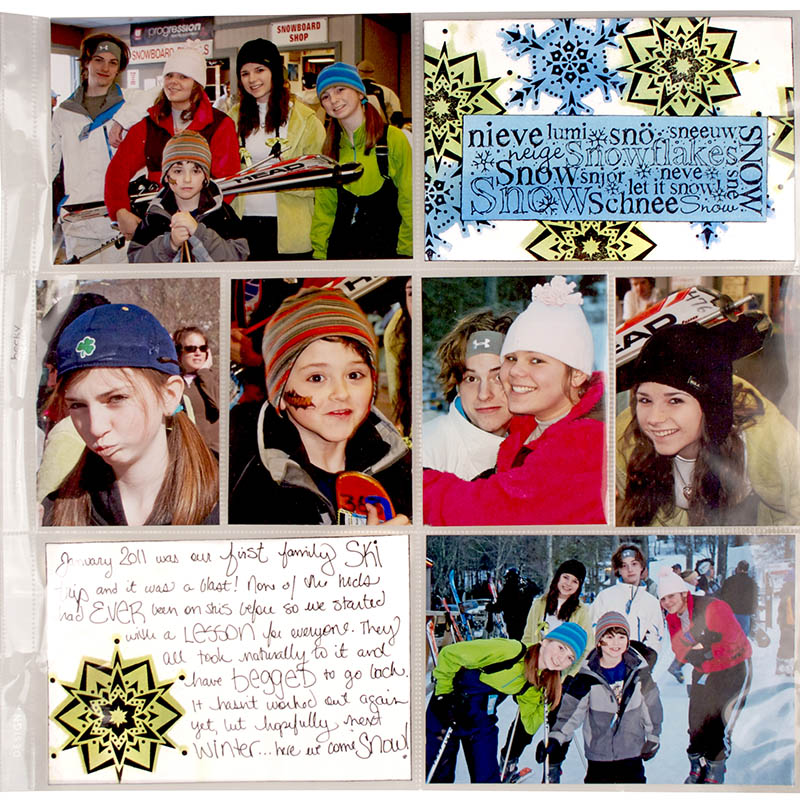 Top Hat Snowman Project Life Page by Cyndi Bundy
