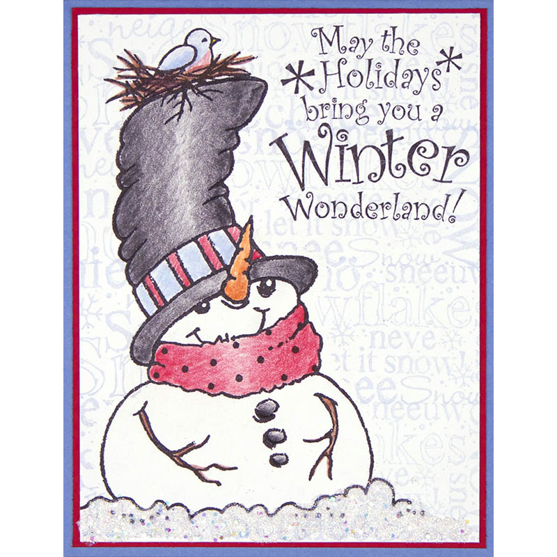 Top Hat Snowman Card by Debi Hammons