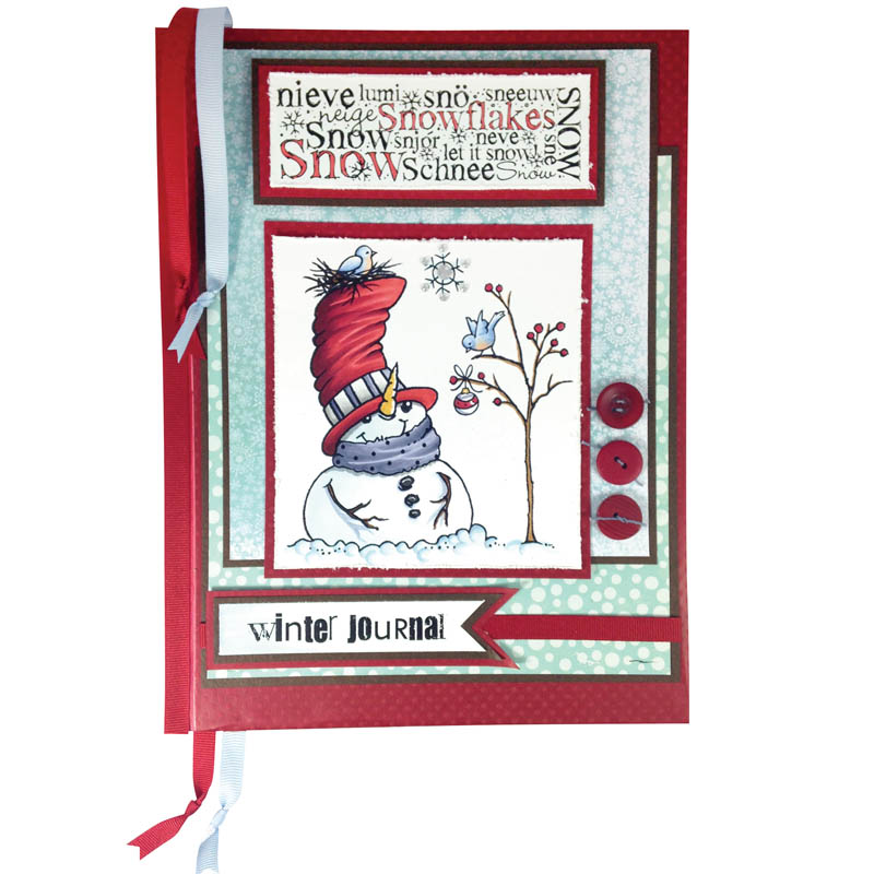Top hat Snowman Winter Journal by Jennifer Dove
