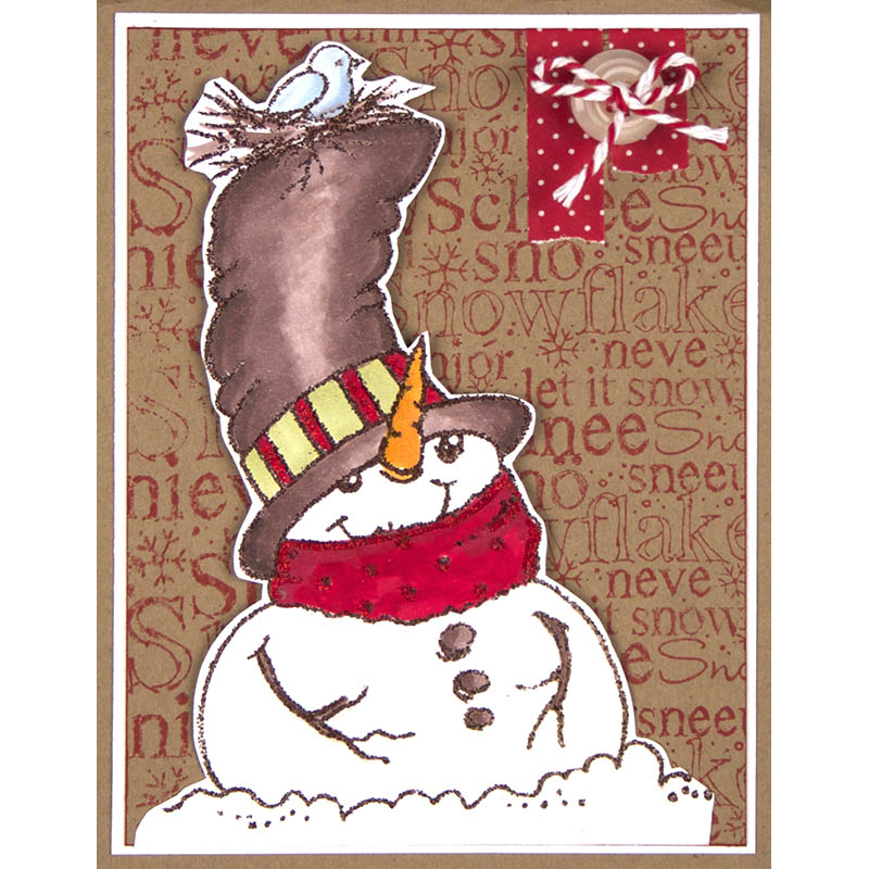 Top hat Snowman Card by Cyndi Bundy