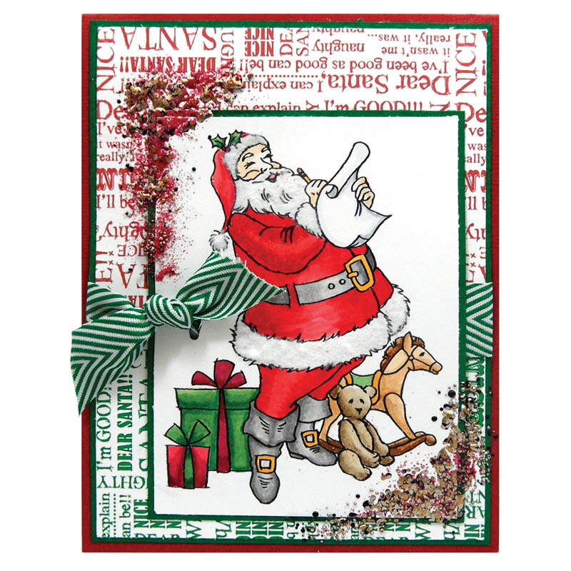 Dear Santa Card by Kristine Reynolds