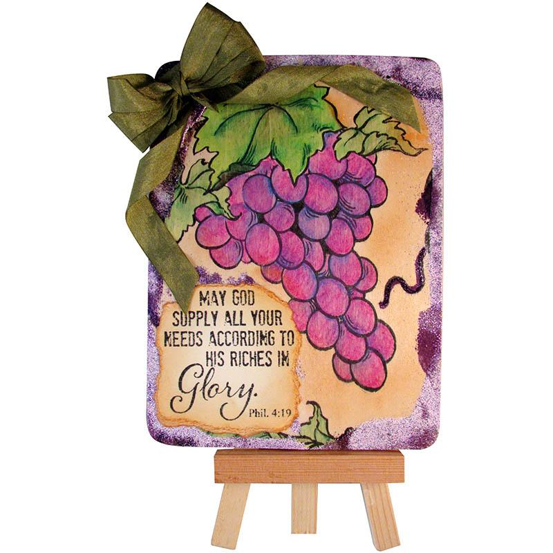 Jumbo Grape Plaque by Kristine Reynolds.