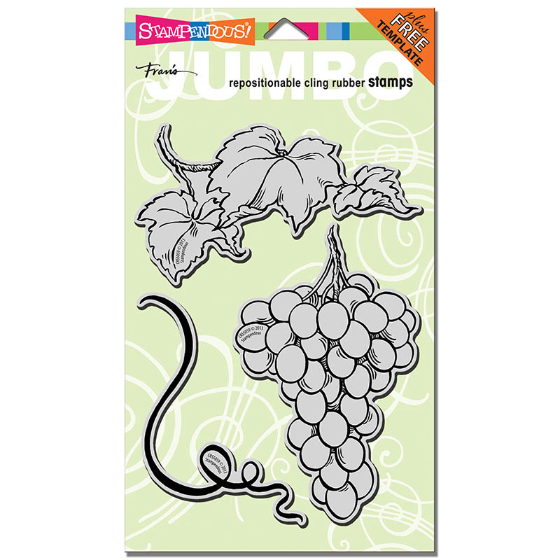 CRS5059 Jumbo Cling Rubber Grapes Stamp Set