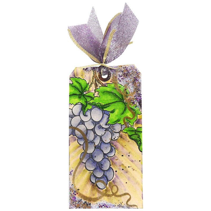Jumbo Grape Tag by Kristine Reynolds