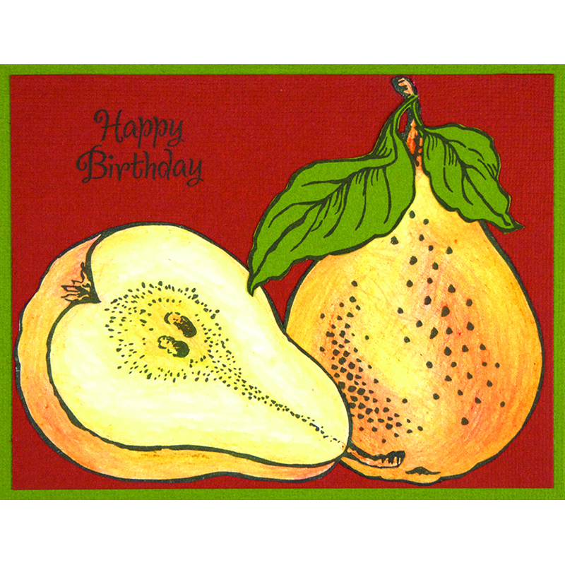 Jumbo Pears Card by Debi Hammons