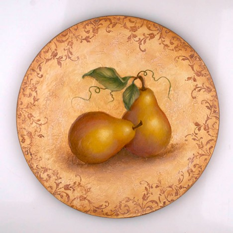 Pear Basket Lid by Debbie Cole