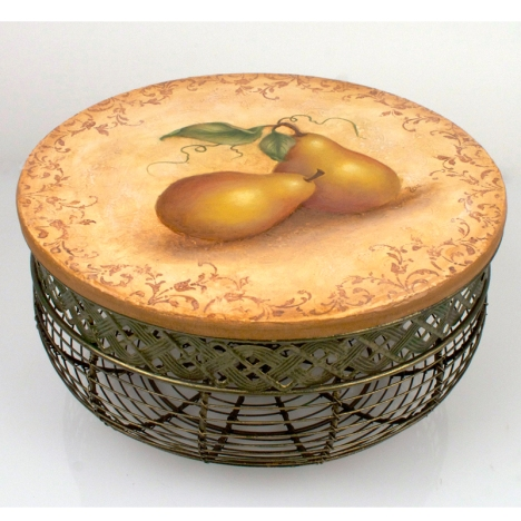Jumbo Pear Basket by Debbie Cole