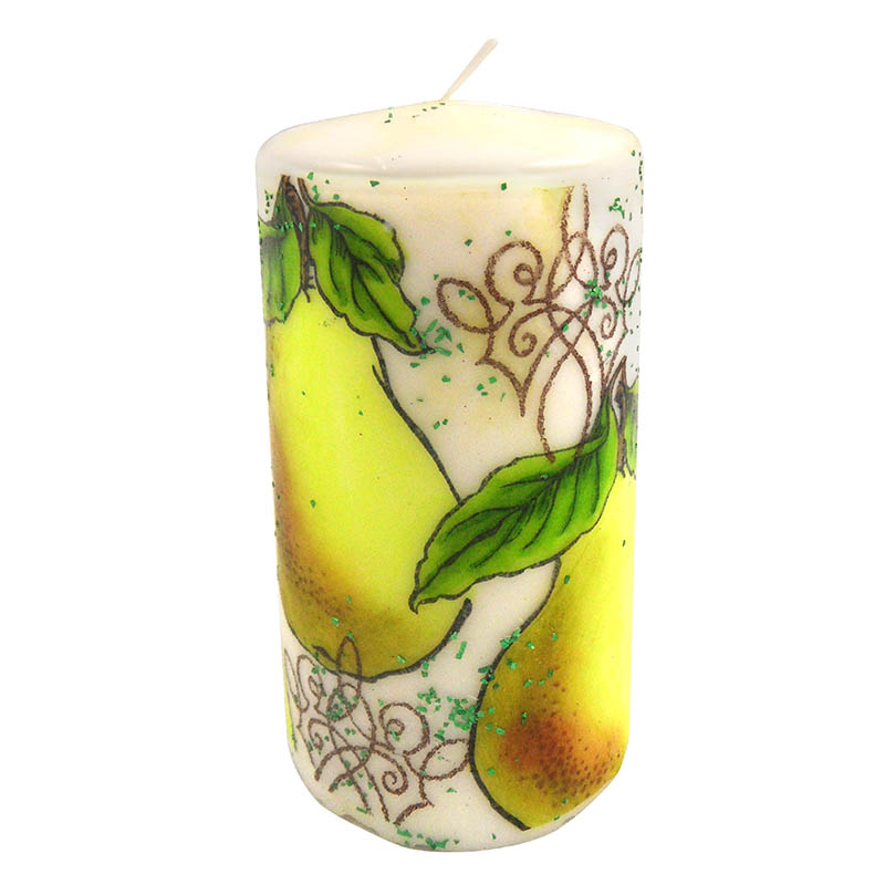 Jumbo Pear Candle by Kristine Reynolds