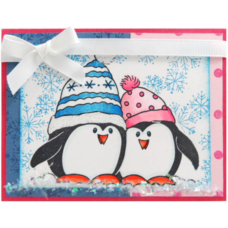 Penguin Snow Card by Kristine Reynolds