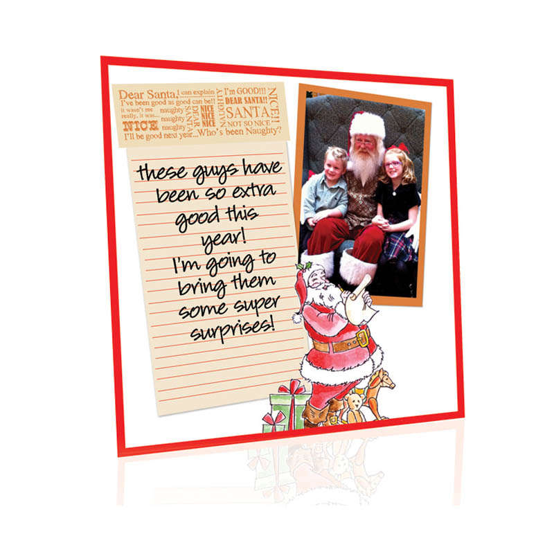 Dear Santa Scrapbook Page by Lisa Hindsley