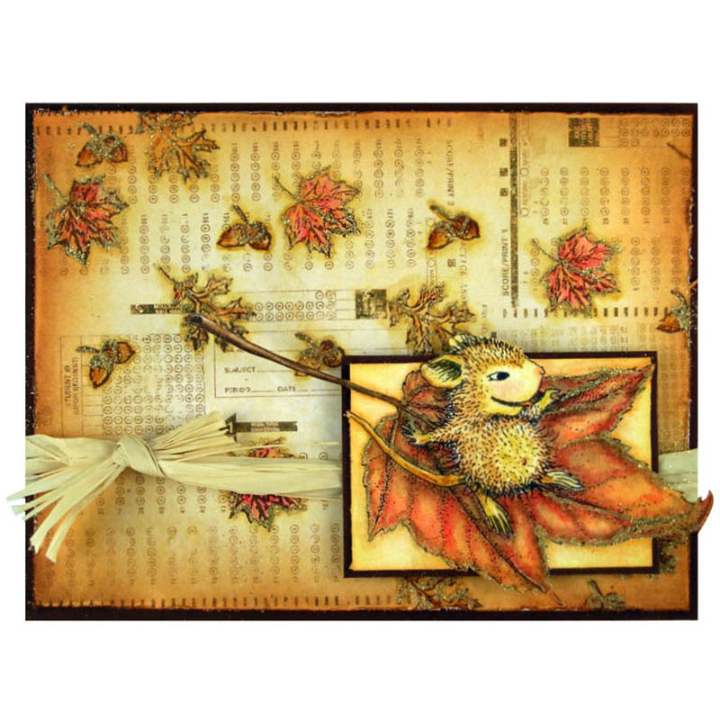 House-Mouse Design Fall Flight Card by Suzanne Czosek