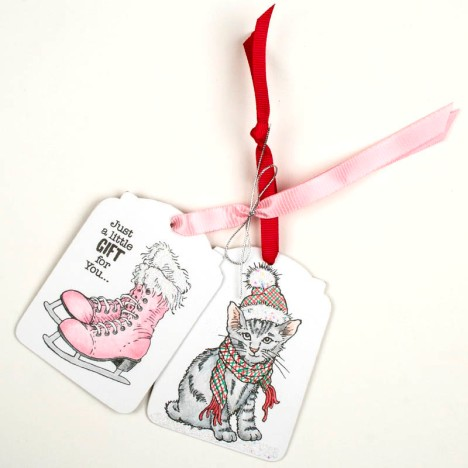 ice skate and cat tag