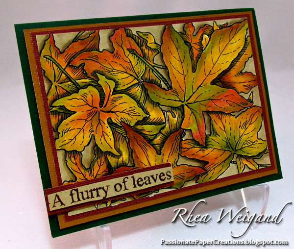 Leaves background card 600px