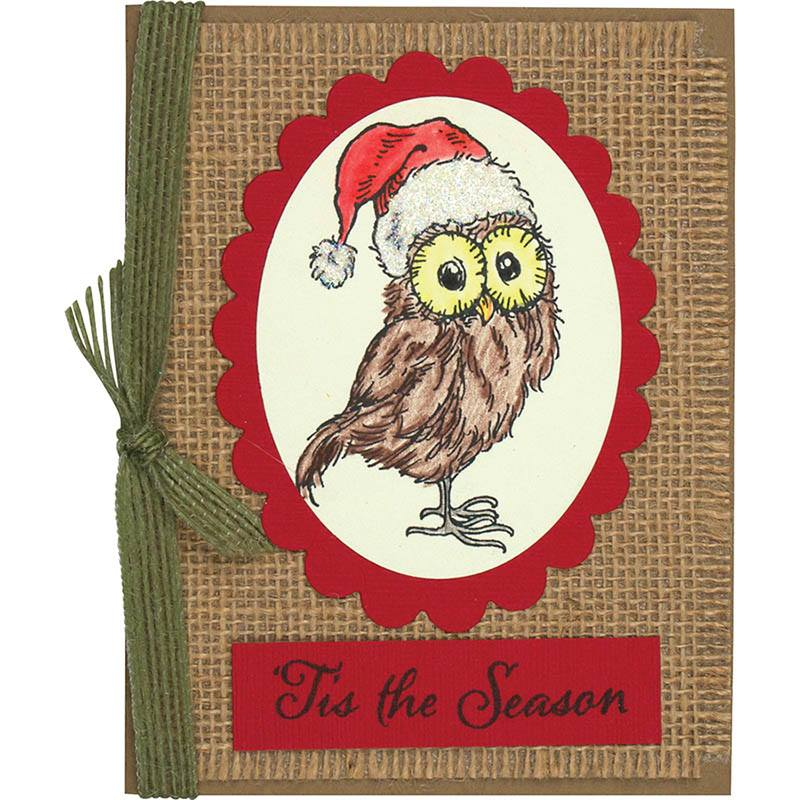 Christmas Owl by Monika Thomsa
