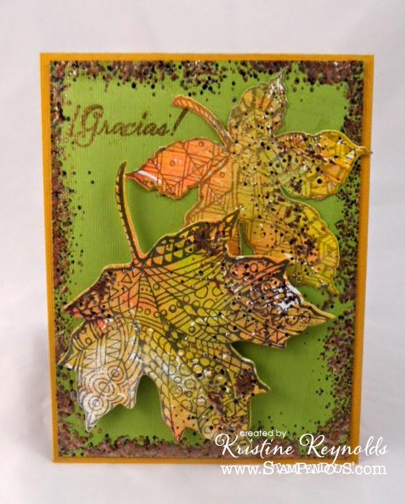PenPattern Leaves Gracias Card by Kristine Reynolds