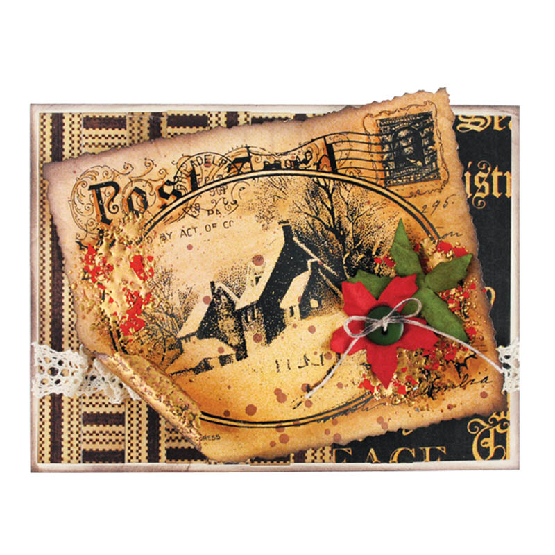 Snowy Postcard Card by Pam Hornschu
