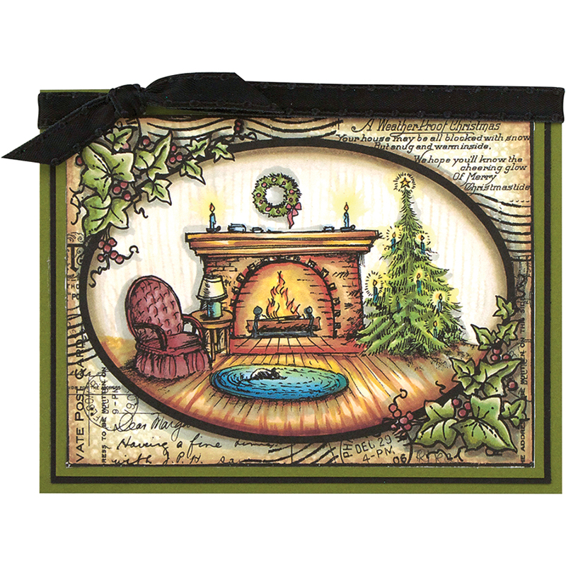 Fireside Ivy Card by Debi Hammons