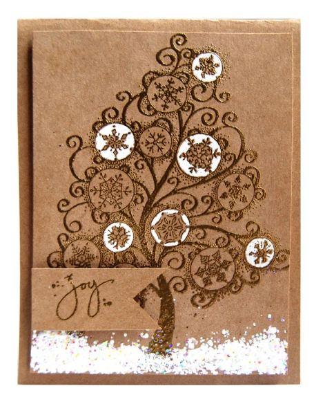 Snowflake Tree Card by Tenia Nelson