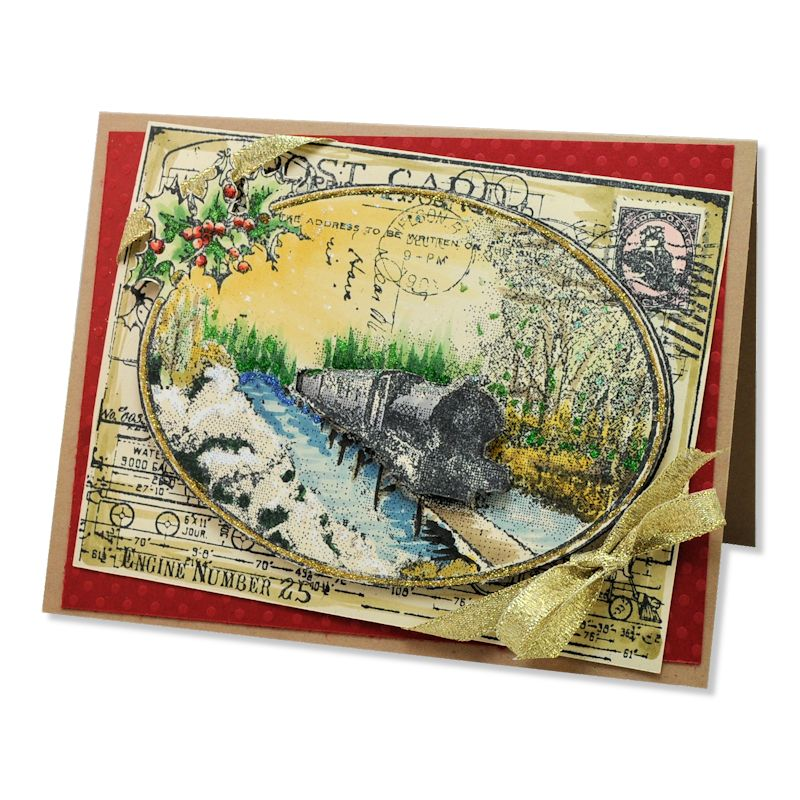 Train Postcard by Janelle Stollfus