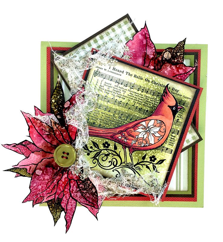 Cardinal Elements Card by Jennifer Dove
