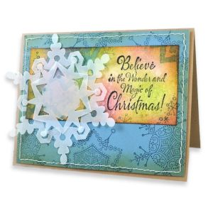 Believe Christmas Snowflake By Janelle Stollfus