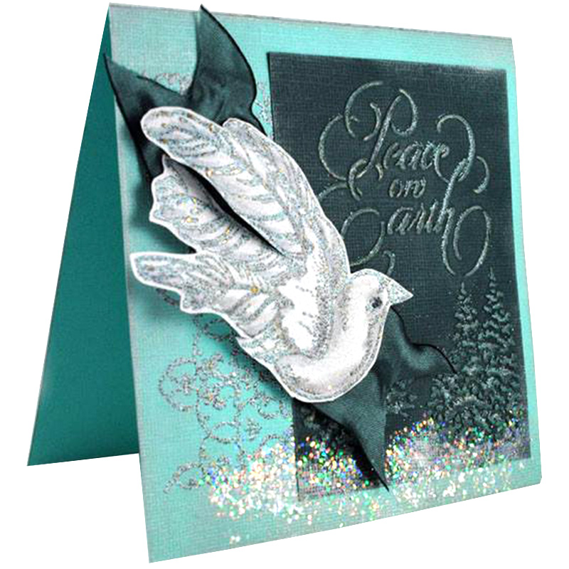 Stampendous Ribbon Bird by Pam Hornschu