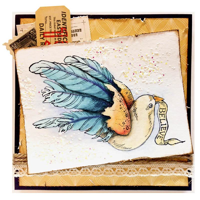 Stampendous Ribbon Bird by Tobi Crawford