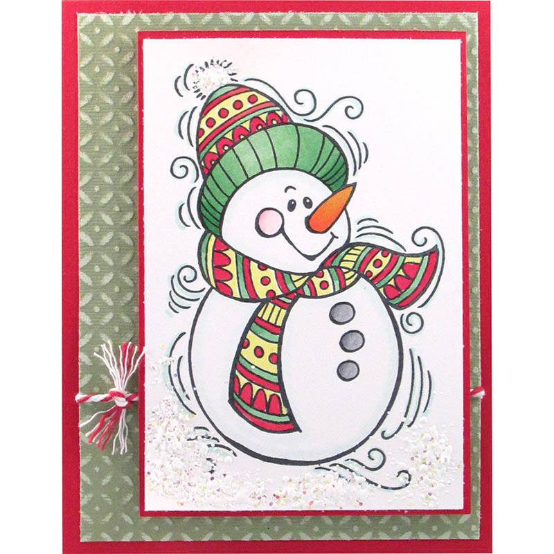 PenPattern Snowman Card by Krissy Fossmeyer