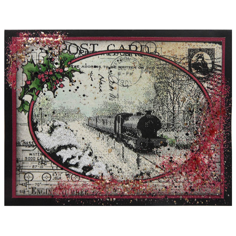 Train Postcard by Kristine Reynolds