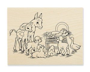 Barnyard Nativity (shown in Wood Mount)
