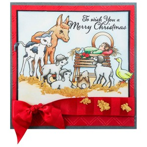 Barnyard Nativity Card by Kristine Reynolds