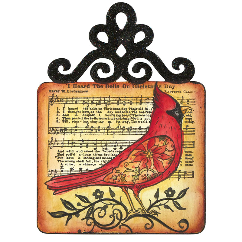Cardinal Elements Plaque by Debbie Cole