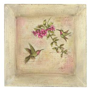 Decorative Painting with Stamps Hummingbirds Plate by Debbie Cole