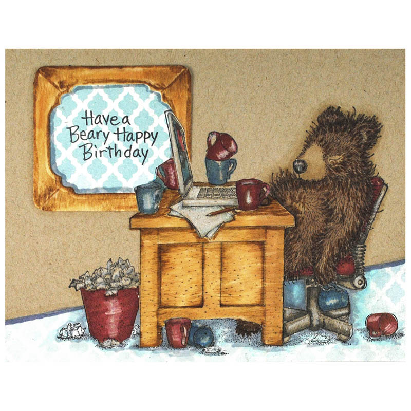 Bearly Working by Pam Hornschu