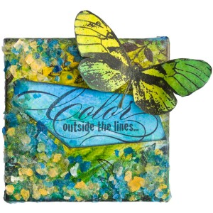 Butterfly Trio Canvas by Cyndi Bundy