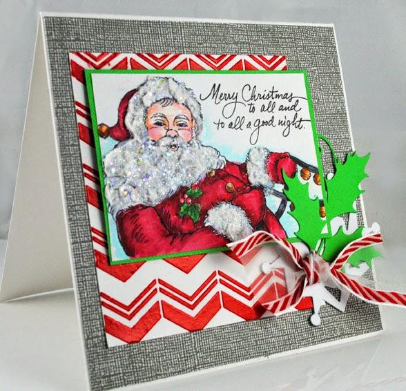 Santa Sleigh with Chevron Stencil by Pam Hornschu