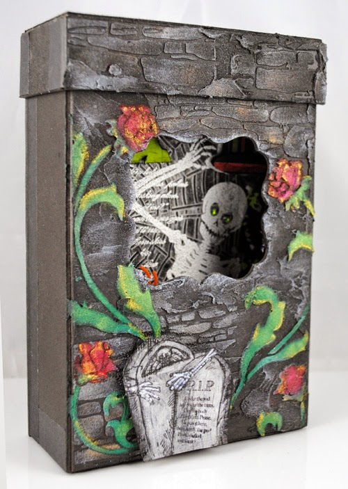 Stenciled Tomb Box by Pam Hornschu
