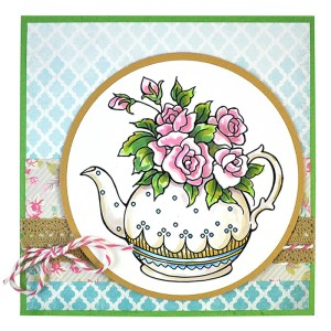 Teapot Posies by Janelle Stollfus