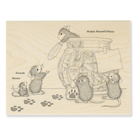 Cookie Bandits Rubber Stamp