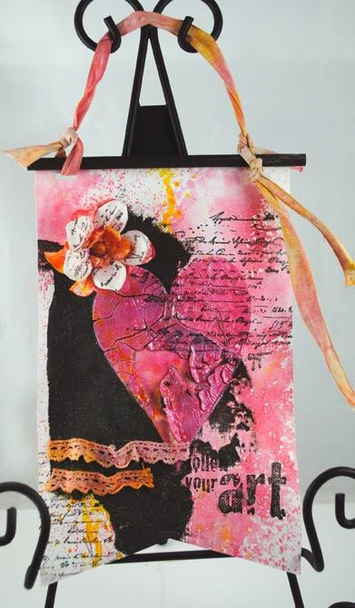 Follow You Art Pennant by Pam Hornschu