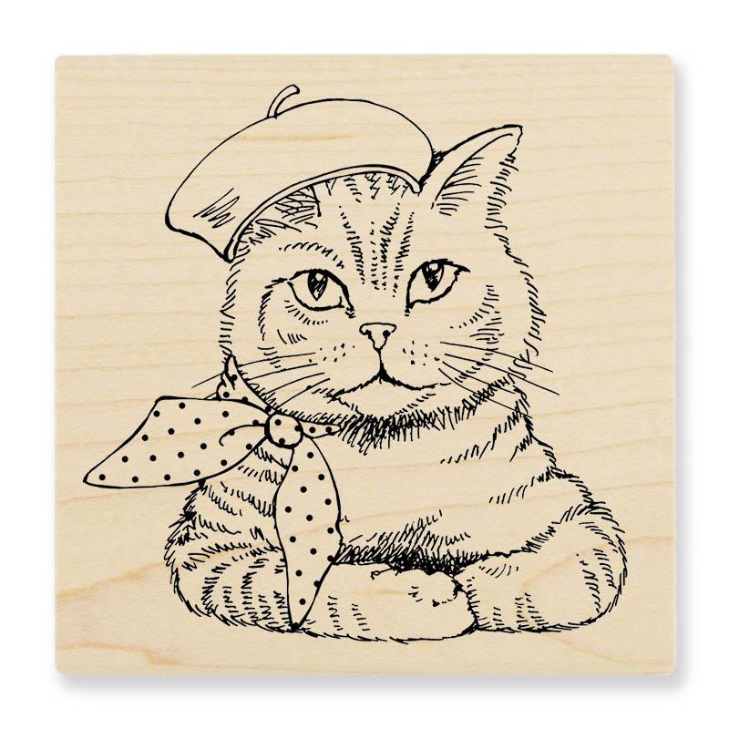 Bonjour Kitty Stamp