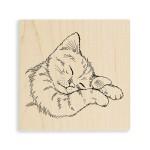 Feline Sleepy Rubber Stamp